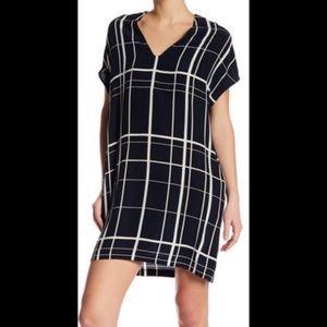 Vince Lattice Print Silk Shift Dress